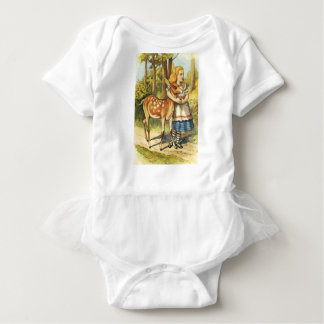 Body Para Bebê Alice e a jovem corça