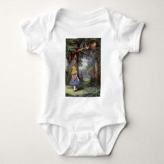 Body Para Bebê Alice e o gato de Cheshire