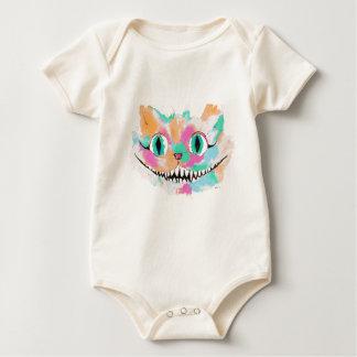 Body Para Bebê Alice no design da cor de água do país das
