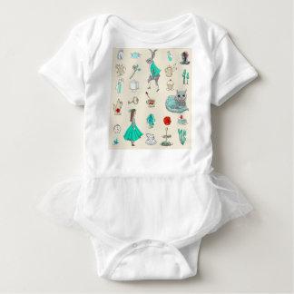 Body Para Bebê Alice no país das maravilhas