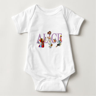 Body Para Bebê Alice no país das maravilhas e amigos