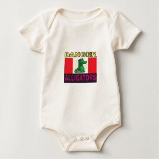 Body Para Bebê aligators do perigo