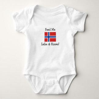 Body Para Bebê Alimente-me Lefse & beijos!