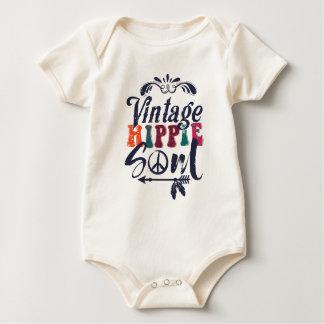 Body Para Bebê Alma do Hippie do vintage