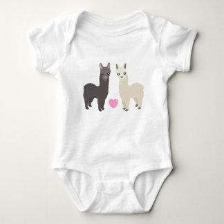 Body Para Bebê Alpacas e coração