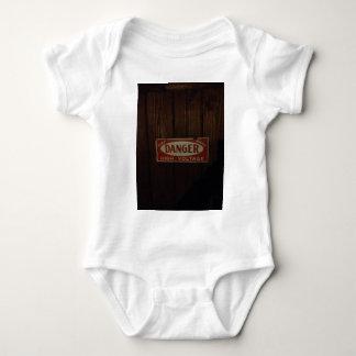 Body Para Bebê Alta tensão escura do perigo