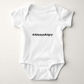 Body Para Bebê #AlwaysAngry-logotipo-preto