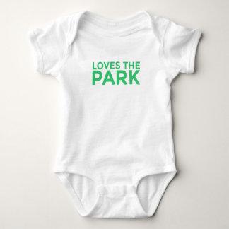 Body Para Bebê Ama o Bodysuit do bebê do parque