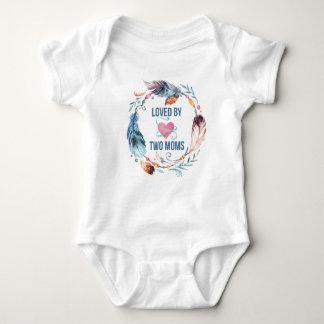 Body Para Bebê Amado pelo Bodysuit boémio do bebê de duas mães