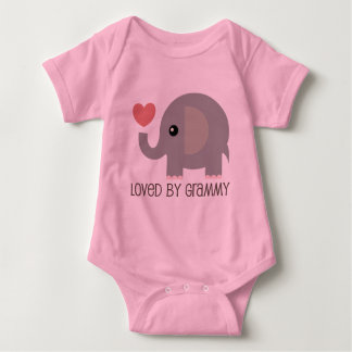Body Para Bebê Amado pelo elefante do coração de Grammy