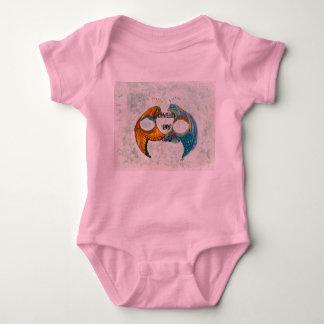 Body Para Bebê Amado por todo o bebê cor-de-rosa onesy
