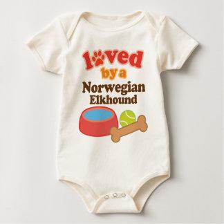 Body Para Bebê Amado por um Elkhound norueguês (raça do cão)