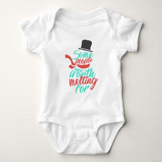 Body Para Bebê Amante de derretimento L do casal do amor da neve