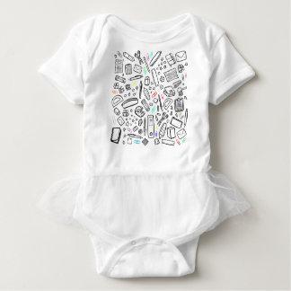 Body Para Bebê Amante dos artigos de papelaria