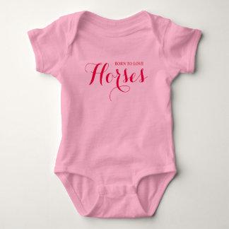 Body Para Bebê Amante nascido do cavalo