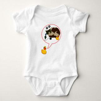 """Body Para Bebê Amantes do pato, """"Duckie diz! """""""
