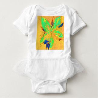 Body Para Bebê Amarelo ácido da lavagem de Santa Fé