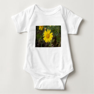 Body Para Bebê Amarelo do cu da flor da margarida