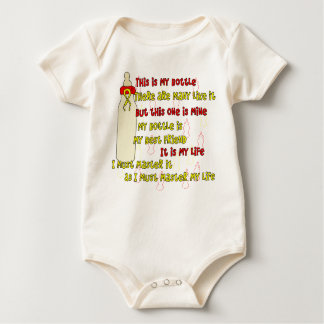 Body Para Bebê Amarelo vermelho do credo n da garrafa