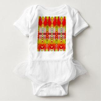 Body Para Bebê Amarelo vermelho psicadélico