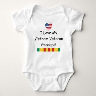 Body Para Bebê Ame meu Bodysuit do vovô do veterano de Vietnam