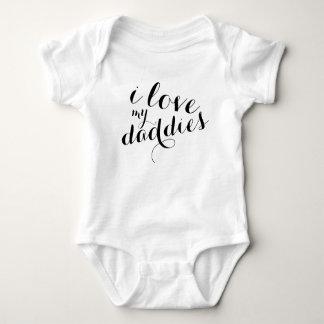Body Para Bebê Ame meu Bodysuit dos pais