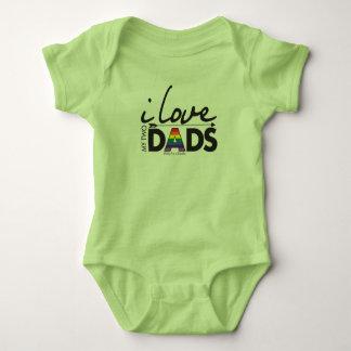 Body Para Bebê Ame meus dois pais - bebê!