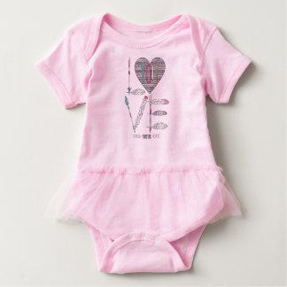 Body Para Bebê Ame-o para sempre Bodysuit do tutu do nativo
