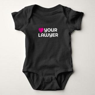 Body Para Bebê Ame seu Bodysuit do bebê do advogado