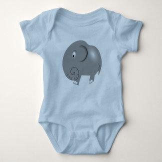 Body Para Bebê Amendoim o Bodysuit do jérsei do elefante
