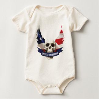 Body Para Bebê Americano ao crânio do osso