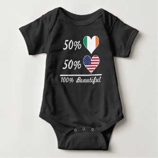 Body Para Bebê Americano do irlandês 50% de 50% 100% bonito