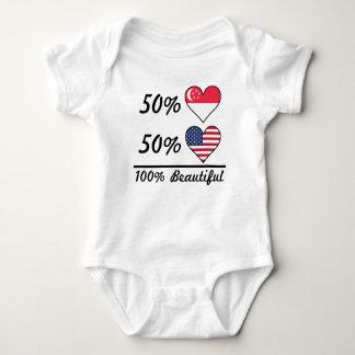 Body Para Bebê Americano do singapurense 50% de 50% 100% bonito