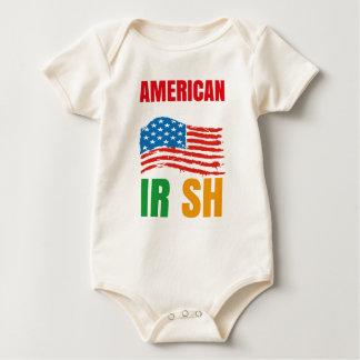 Body Para Bebê Americano pelo IRLANDÊS do nascimento pela graça