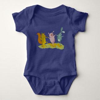 Body Para Bebê amigos azuis