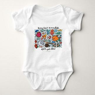 Body Para Bebê Amigos coloridos dos peixes