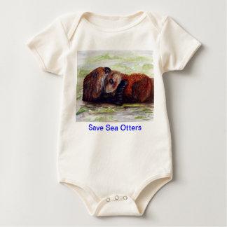 Body Para Bebê Amigos do creeper do bebê da lontra de mar