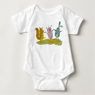 Body Para Bebê Amigos pequenos