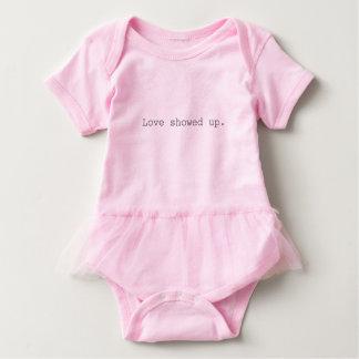Body Para Bebê Amor aparecido o Romper do bebê com tutu