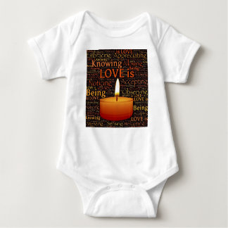 Body Para Bebê Amor, citações da vela