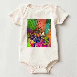 Body Para Bebê Amor da natureza com fundo multicolorido