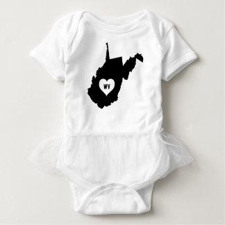 Body Para Bebê Amor de West Virginia