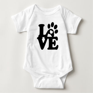Body Para Bebê Amor do cão do bebê do coração do impressão das