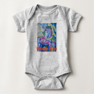 Body Para Bebê Amor do cavalo