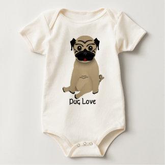 Body Para Bebê Amor do pug do bebê
