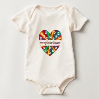 Body Para Bebê Amor do Schnauzer diminuto