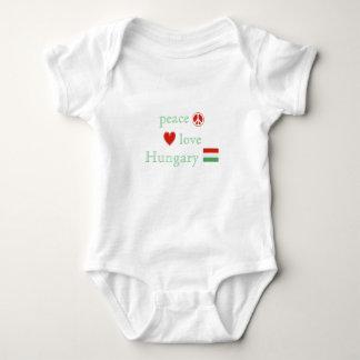 Body Para Bebê Amor e Hungria da paz