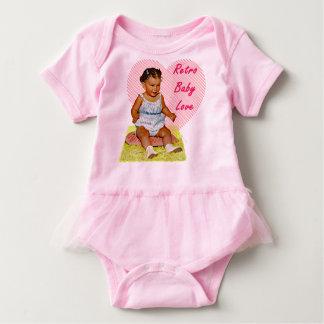 Body Para Bebê Amor retro do bebê um Bodysuit do tutu do bebê da