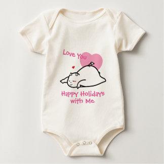 Body Para Bebê Amor tímido bonito do diabo você boas festas