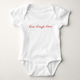 Body Para Bebê Amor vivo do riso do vermelho moderno bonito